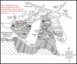 Lageplan der Apartments