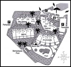 Lageplan zentraler Bereich